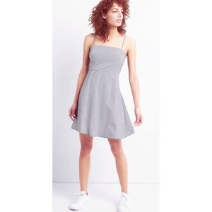 GAP Softspun Modal Gray Fit Flare Pleat Cami Dress